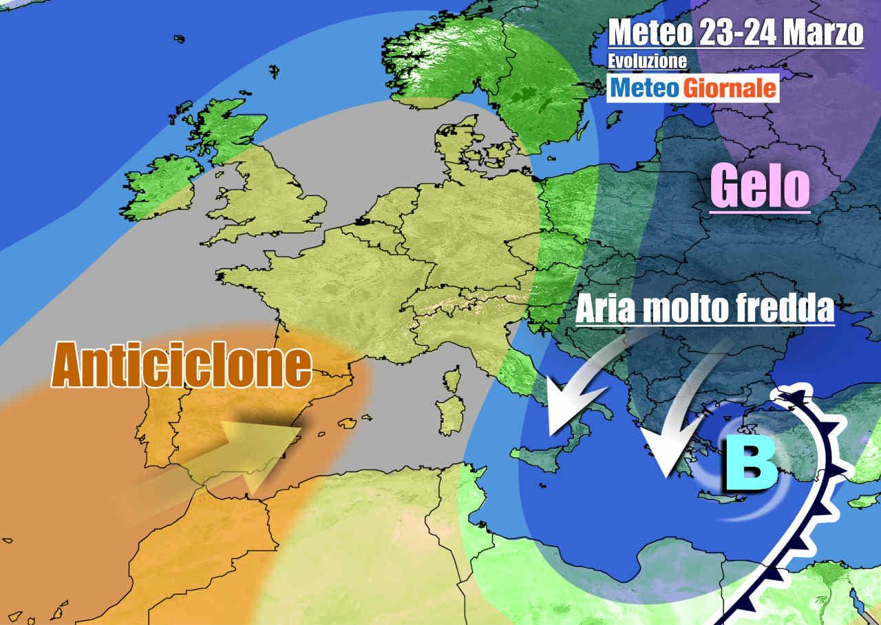 meteogiornale 7 g 19 - METEO Italia. Grande freddo anche a inizio settimana, poi inizia a cambiare