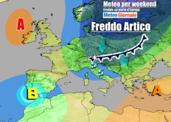 Evoluzione weekend, con l'Italia nel mirino del fronte freddo da nord