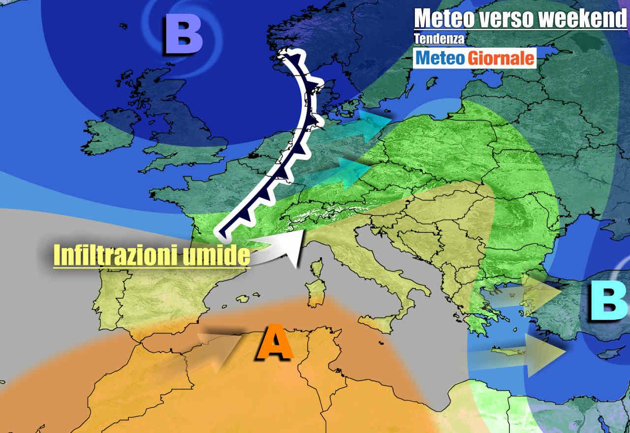 meteogiornale 7 g 22 - METEO Italia: Anticiclone, ma cambia verso weekend
