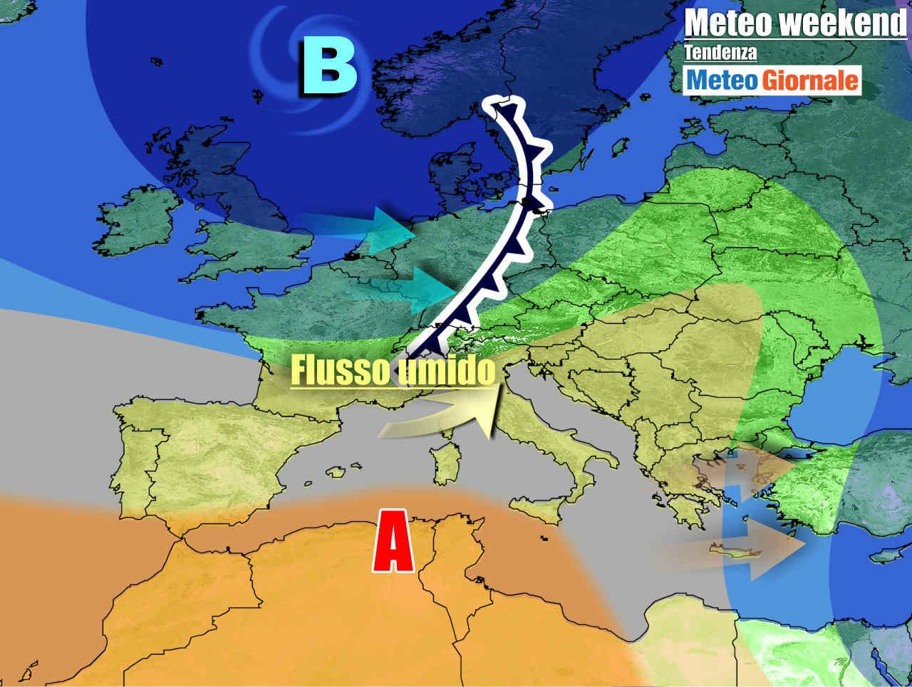 meteogiornale 7 g 23 - METEO Italia. L'Anticiclone ci porta la Primavera, ma Weekend novità