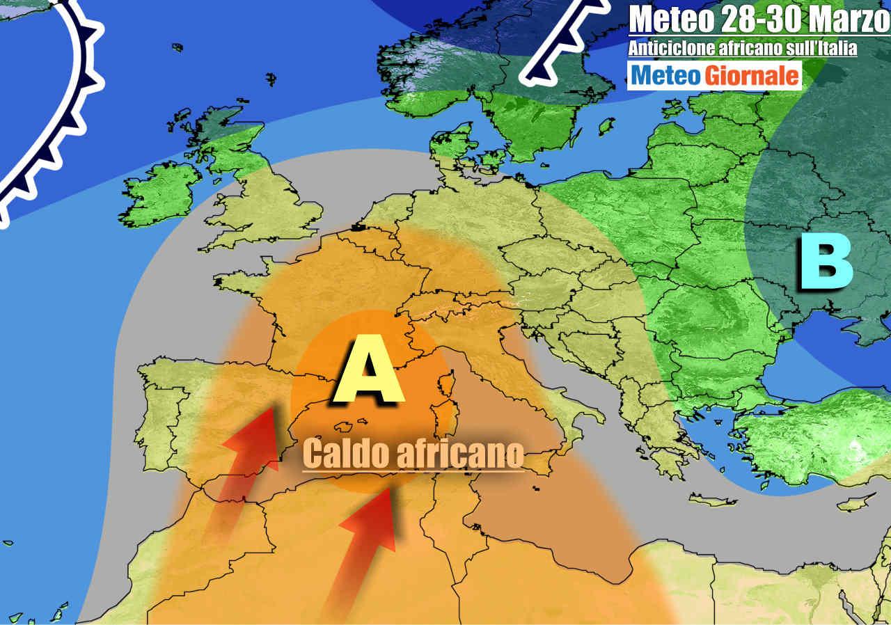 meteogiornale 7 g 24 - METEO Italia. Arriva l'anticiclone africano, ma grandi novità verso Pasqua