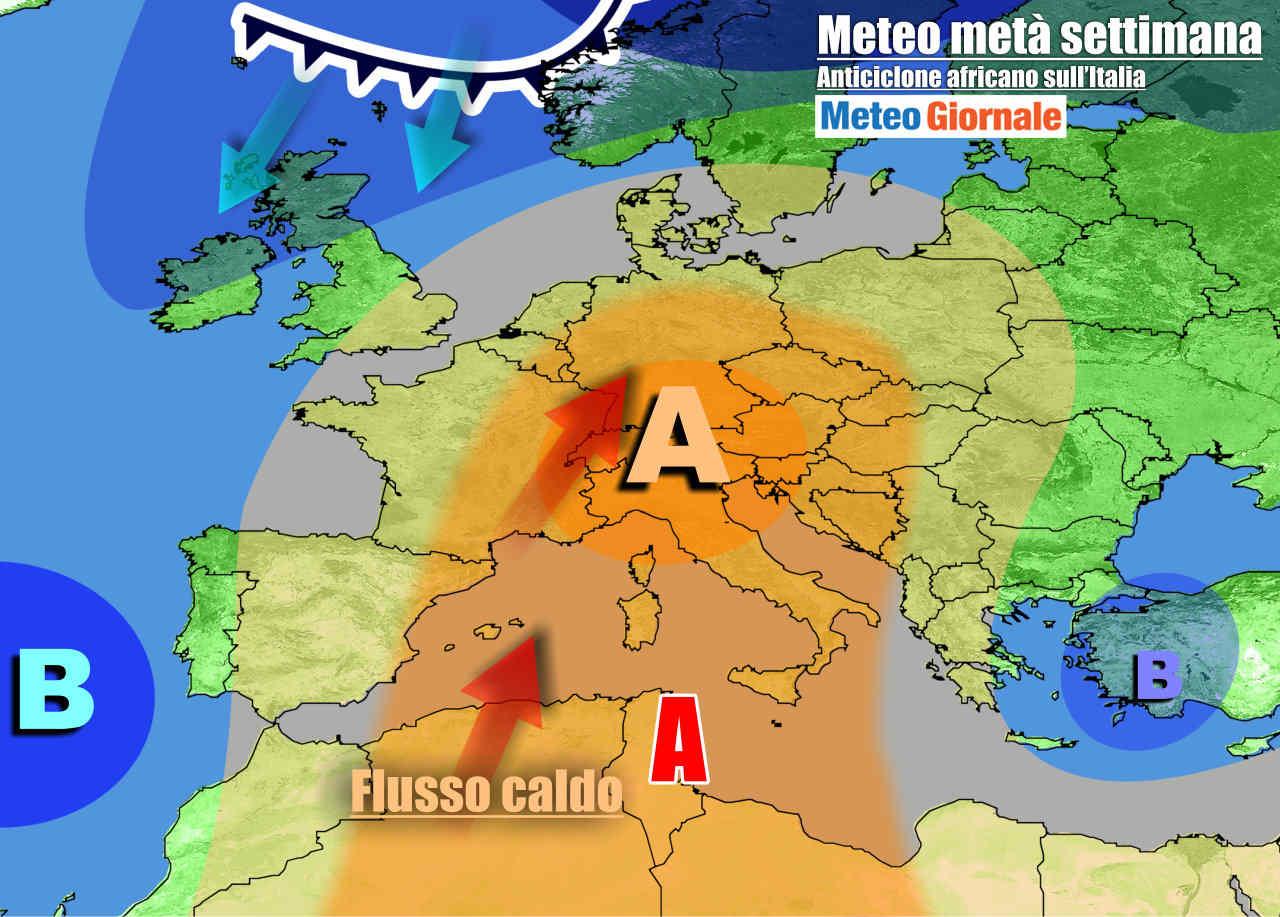 meteogiornale 7 g 26 - METEO Italia. Arriva l'anticiclone africano, ma da Pasqua grande ribaltone