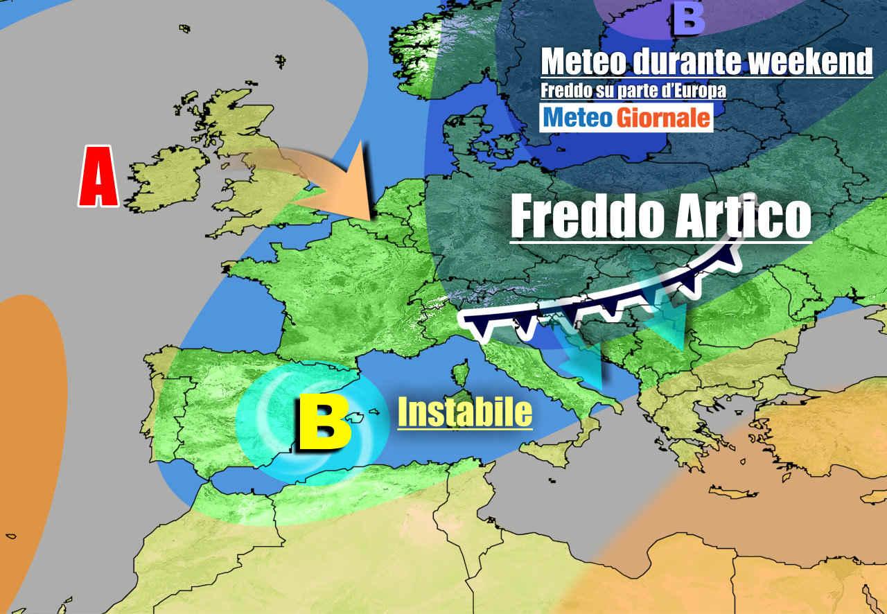 meteogiornale 7 g 3 - METEO Italia. Weekend freddo, instabile. Le novità della prossima settimana