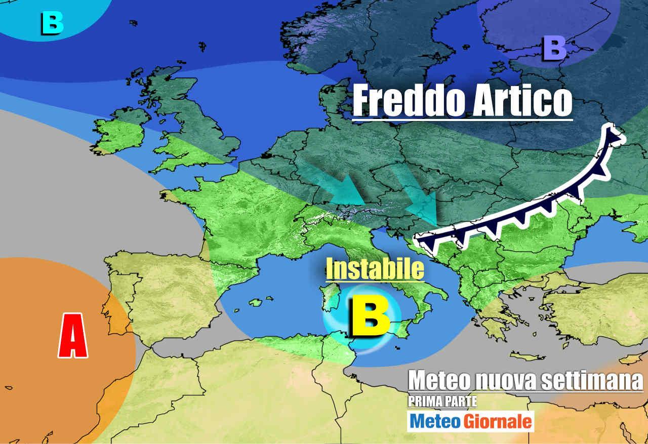 meteogiornale 7 g 4 - METEO Italia molto movimentato la prossima settimana, nuove perturbazioni