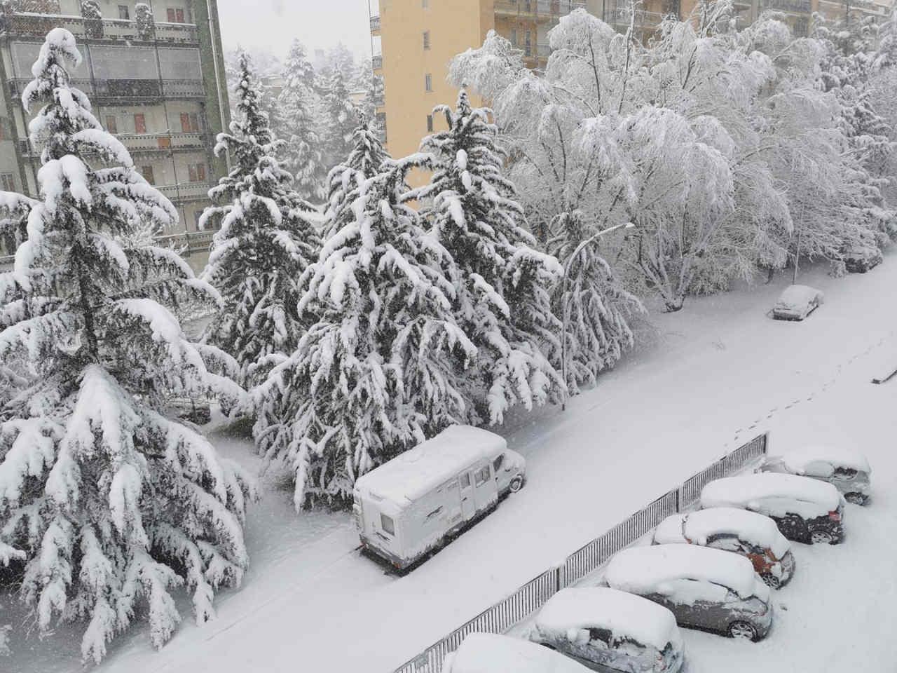 neve potenza - Incredibile avvio di primavera. Neve a bassissima quota al Sud
