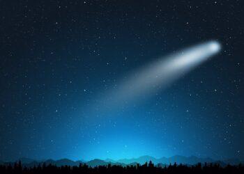 scia luminosa sulla luna 350x250 - Titano, la luna di Saturno: possibili vulcani ancora attivi