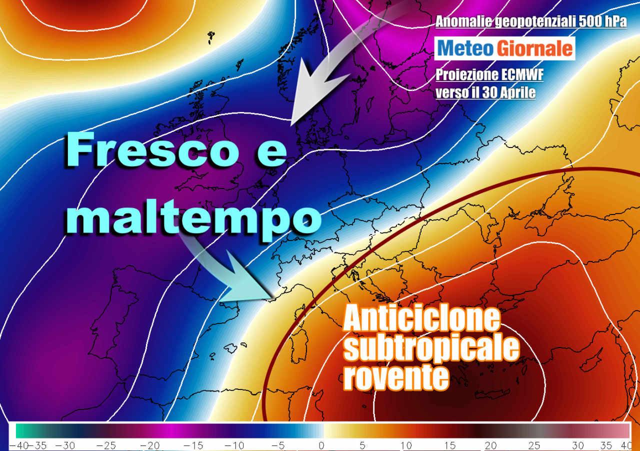 caldo africano 1 - Meteo Esplosione CALDO estivo con RASOIATA FREDDA verso il Nord Italia