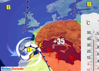 caldo africano 350x250 - Potente ONDATA di CALDO in arrivo!