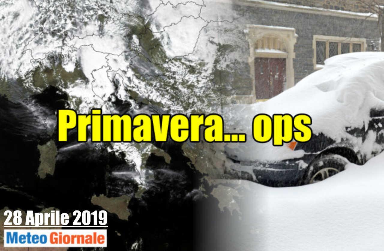 crisi primavera - NEVE di fine Aprile a bassa quota sul Nord Italia. Meteo estremizzato