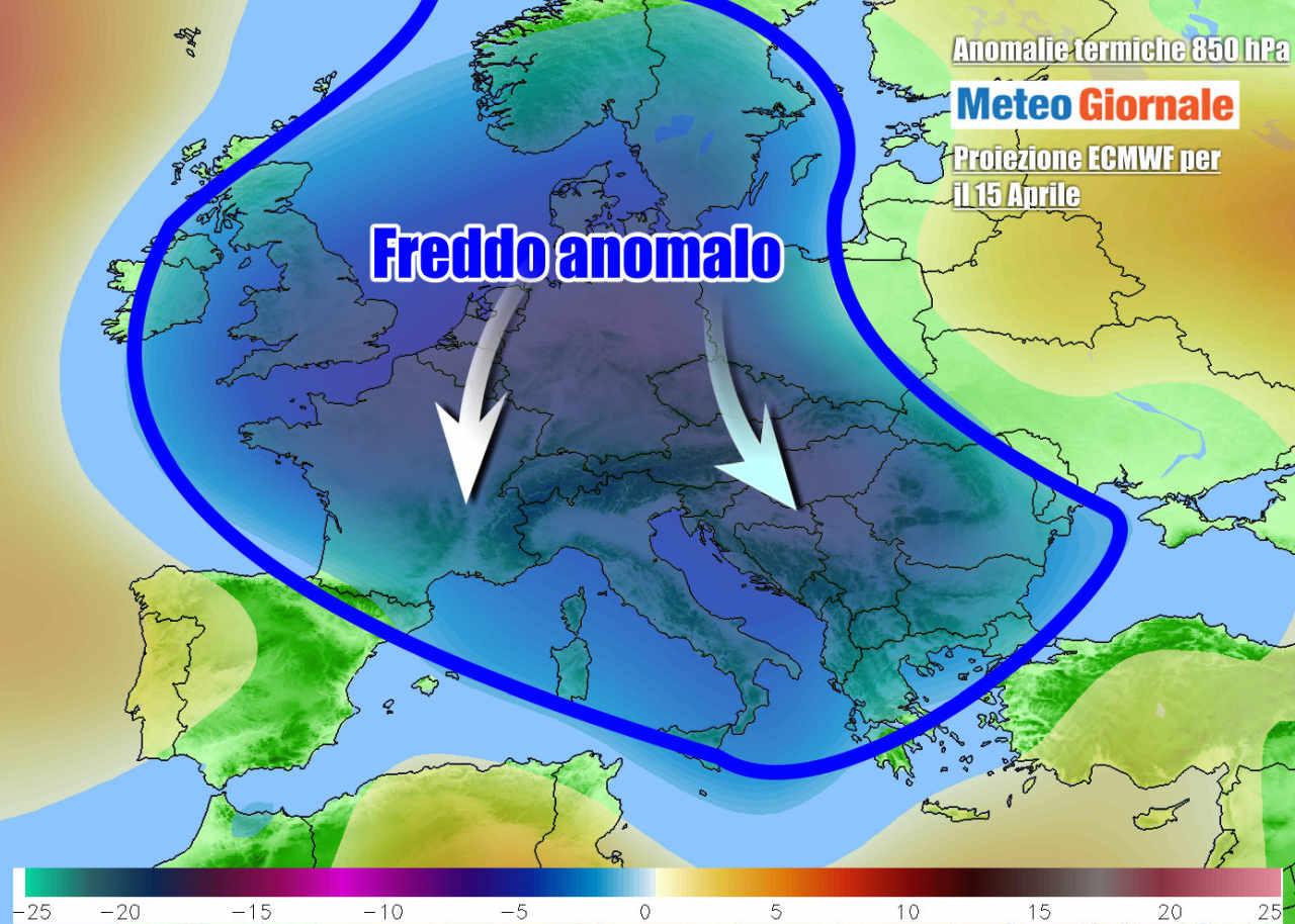 freddo europa - INVERNO nel cuore della primavera. FREDDO persistente in quasi tutta Italia. Nevicate
