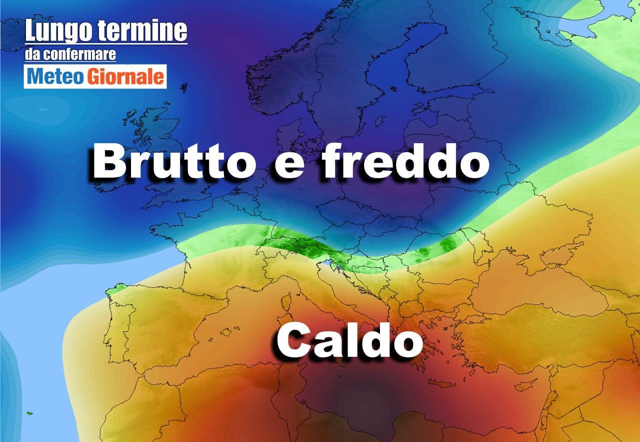 lungo termine 14 - Meteo Italia al 4 maggio, VIOLENTI sbalzi termici