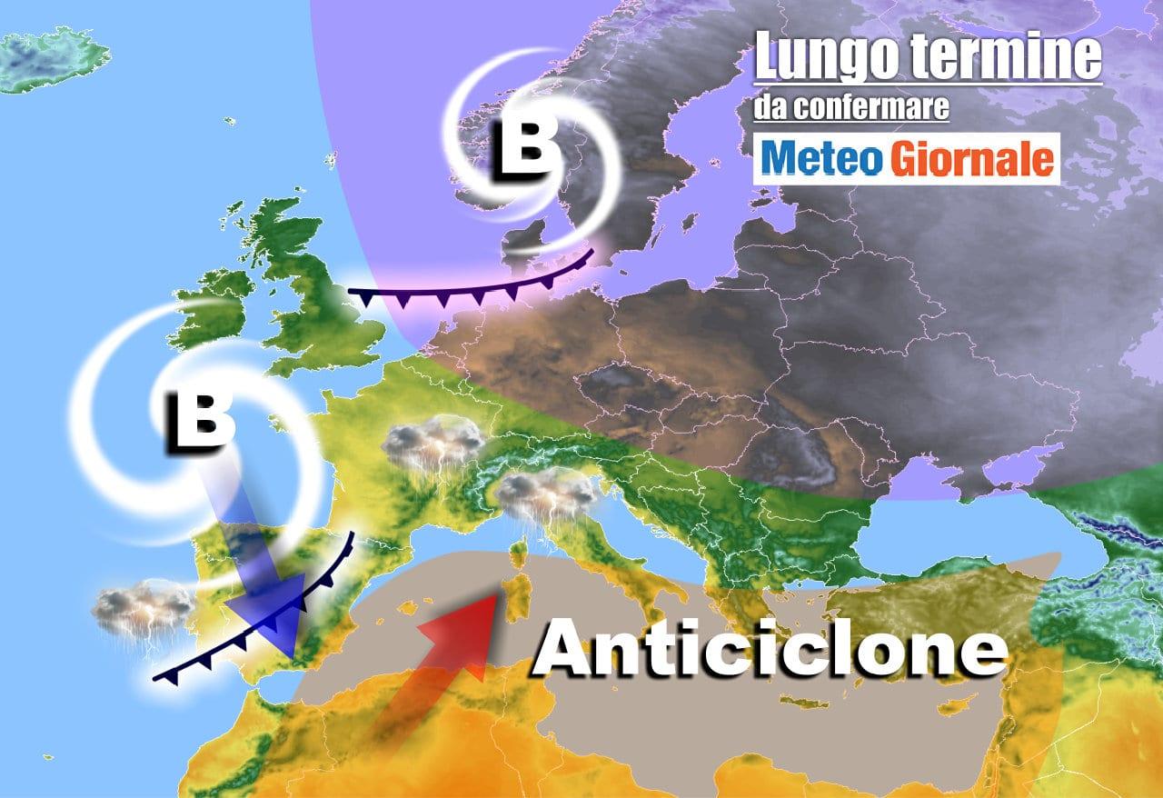 lungo termine 2 1 - Meteo Italia all'8 Maggio: tra CALDO d'Africa e MALTEMPO anche intenso