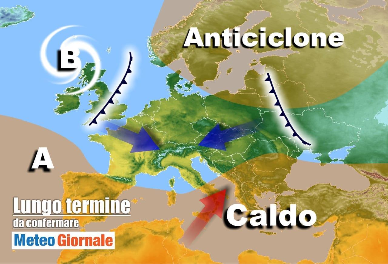 lungo termine 5 - Meteo Italia al 22 aprile con varie ondate di maltempo