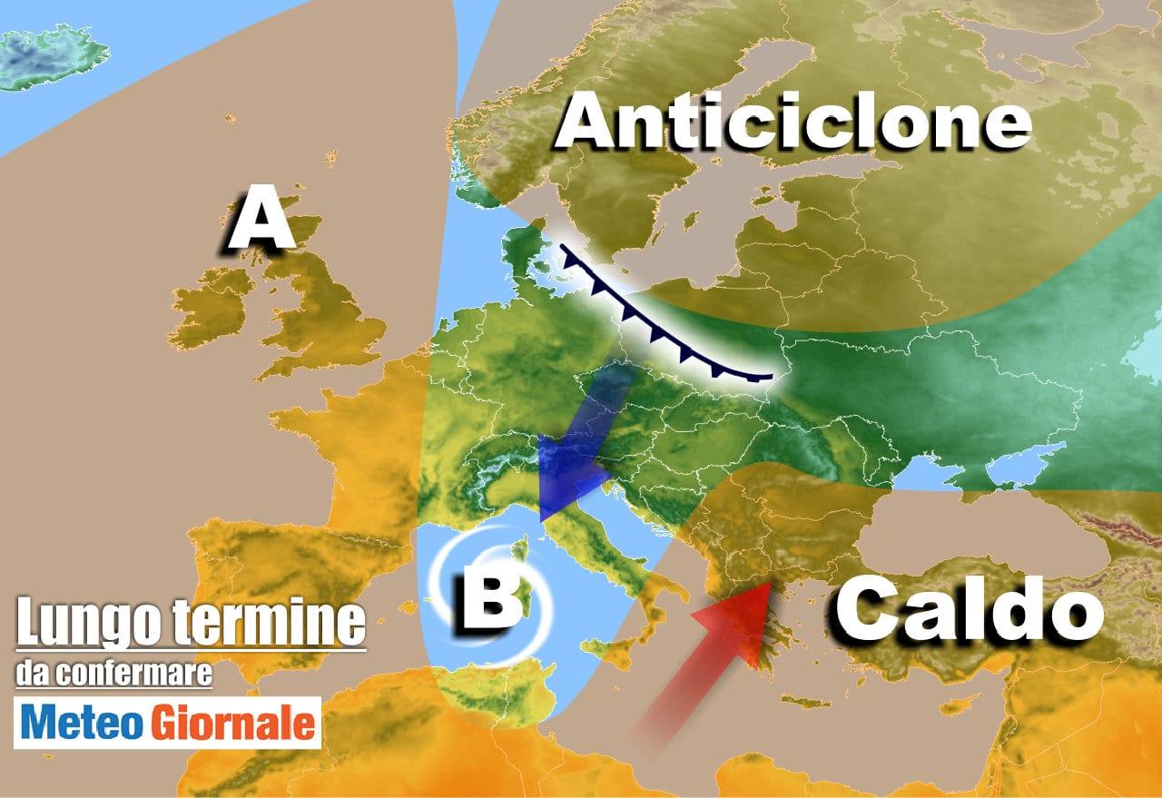 lungo termine 7 - Meteo Italia al 26 aprile, lunga fase FREDDA e perturbata