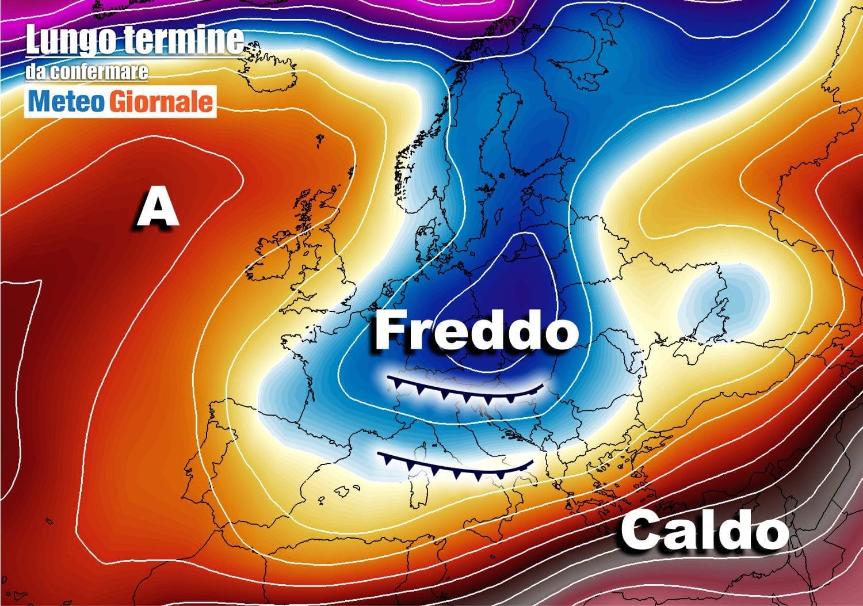 lungo termine1 1 - Meteo Italia al 23 aprile, cambia di nuovo tutto: freddo