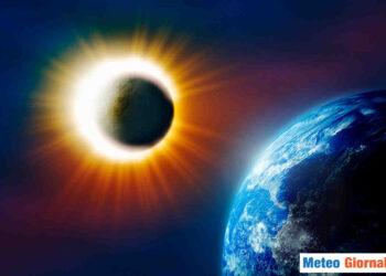 Fotocomposizione Sole e Terra.