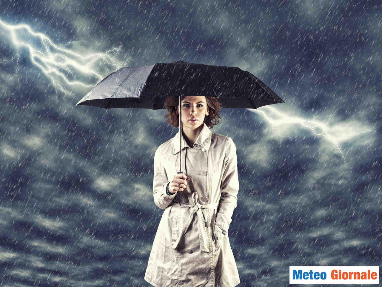 meteo giornale 00148 - Meteo nel weekend di Pasqua, TEMPORALI ed anche GRANDINE, temperature giù anche di 10°C
