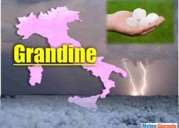 Meteo Italia con temporali e grandine.
