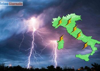 Temporali protagonisti su parte d'Italia