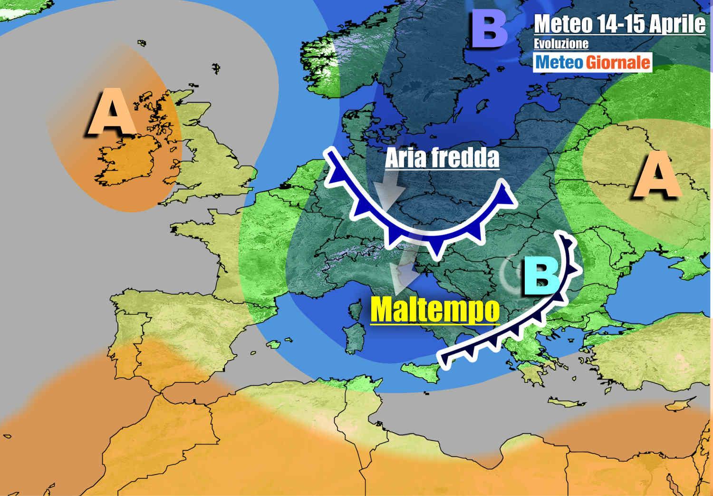 meteogiornale 7 g 11 - METEO con Maltempo su ITALIA. Quasi INVERNO: pioggia e neve. Freddo