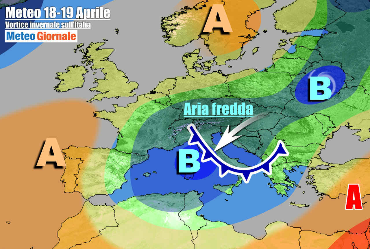 meteogiornale 7 g 15 - METEO Italia nel segno dell'Inverno, tra clima freddo e maltempo