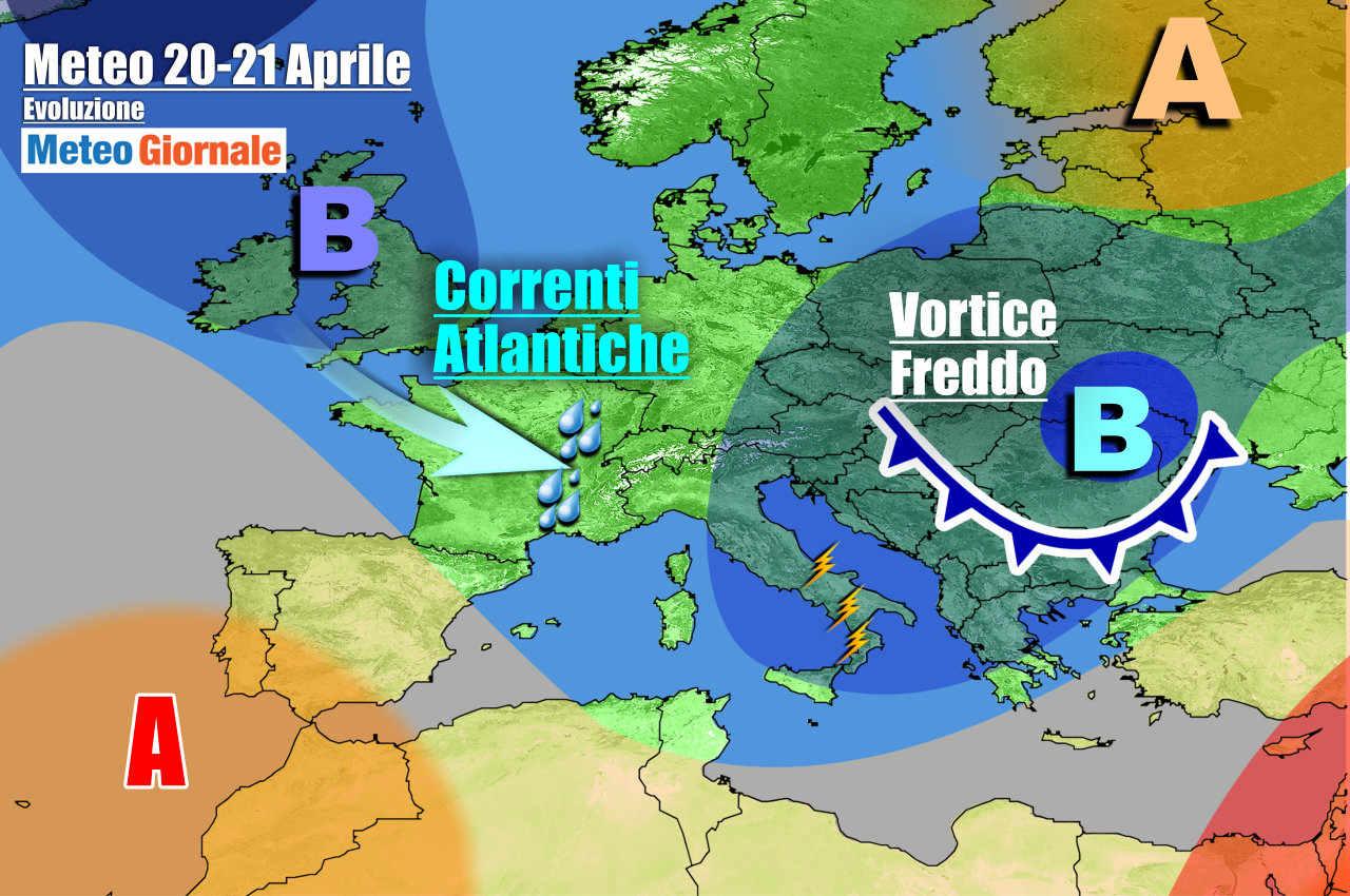 meteogiornale 7 g 17 - METEO Italia. Pioggia, temporali, neve e freddo, ma s'intravedono novità