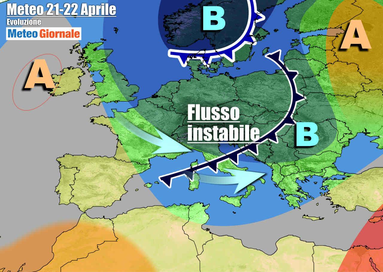 meteogiornale 7 g 18 - METEO con settimana instabile e fredda, la Primavera dove è? Ma poi cambiamento
