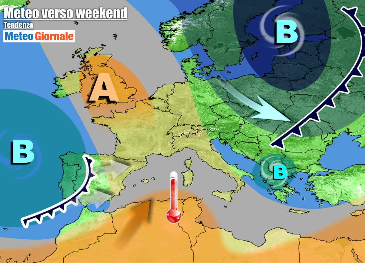 meteogiornale 7 g 21 - METEO 7 Giorni. Piogge e temporali, ma nel weekend cambia tutto