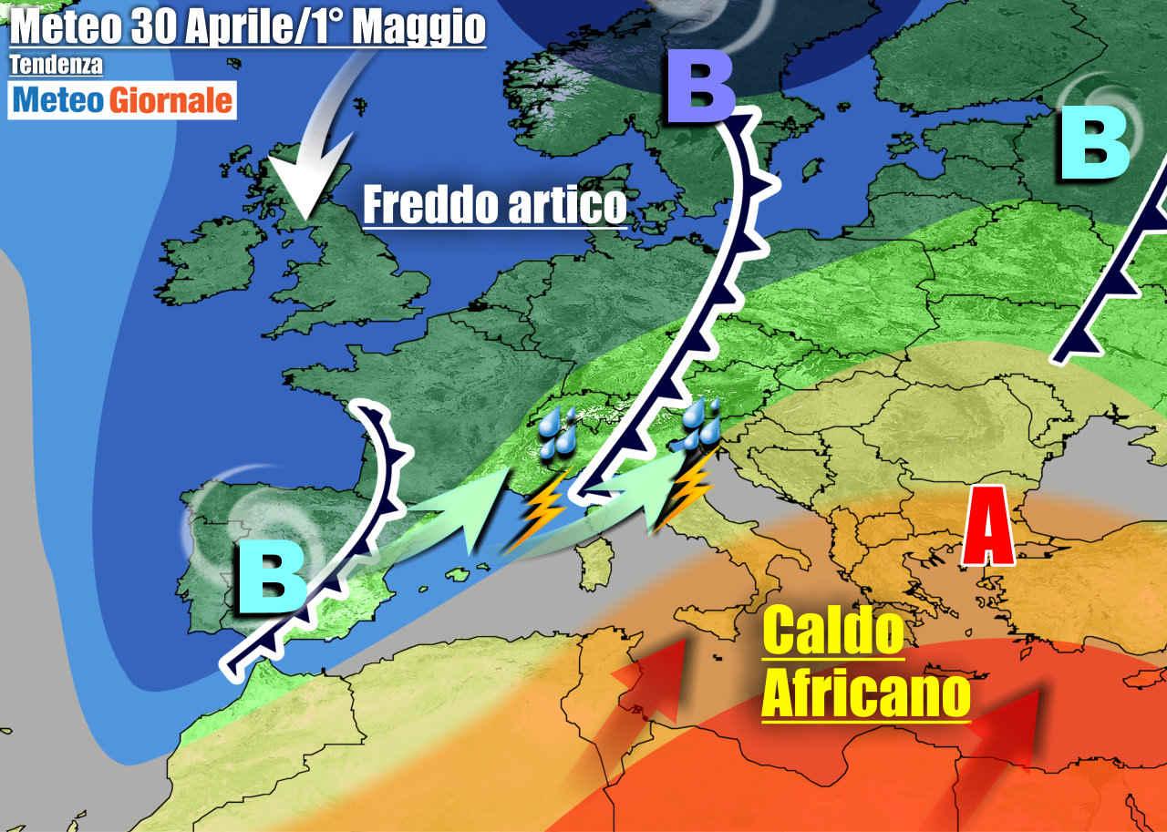 meteogiornale 7 g 27 - METEO 7 Giorni, PERTURBAZIONI al Centro-Nord e Caldo d'Africa al Sud