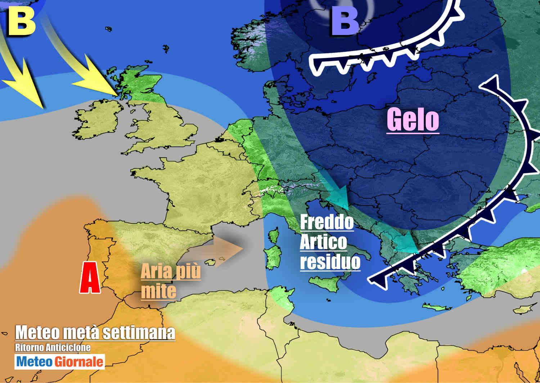 meteogiornale 7 g 5 - METEO Italia con FREDDO invernale e NEVE. Niente TREGUA per novità