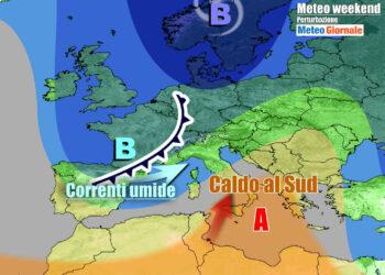 Condizioni meteo in peggioramento nel weekend su parte d'Italia