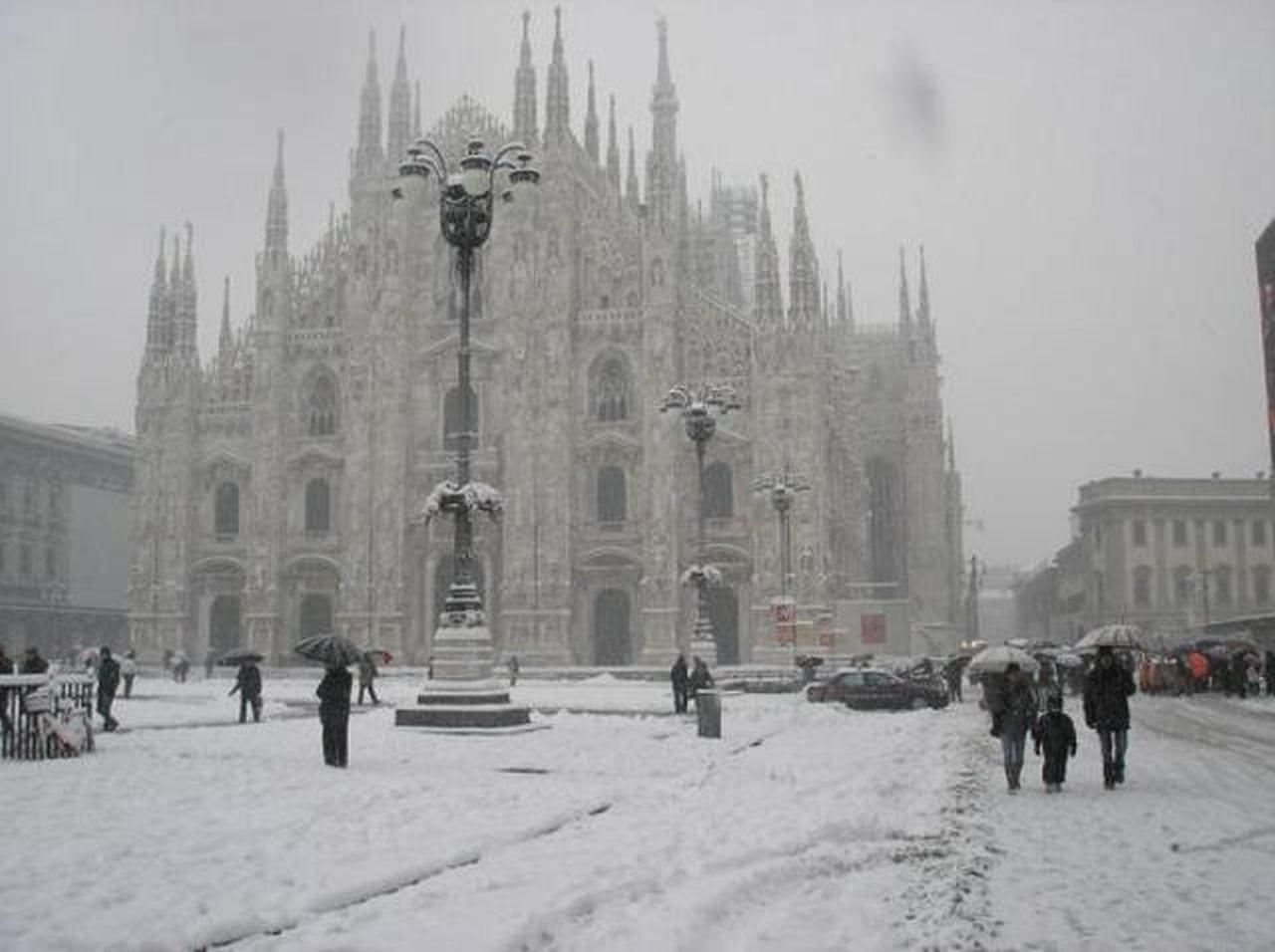 neve milano - La NEVE storica di Aprile fin su Milano