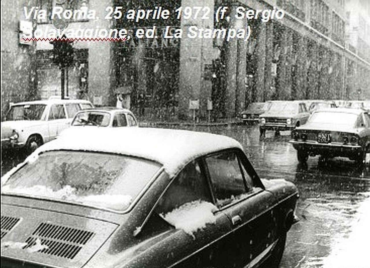 neve torino 25 aprile 1972 - Nevicata del 25 aprile a Torino, la più tardiva in assoluto