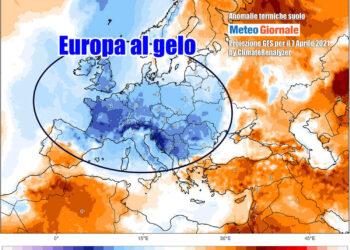Oltre mezza Europa con temperature ampiamente sotto media