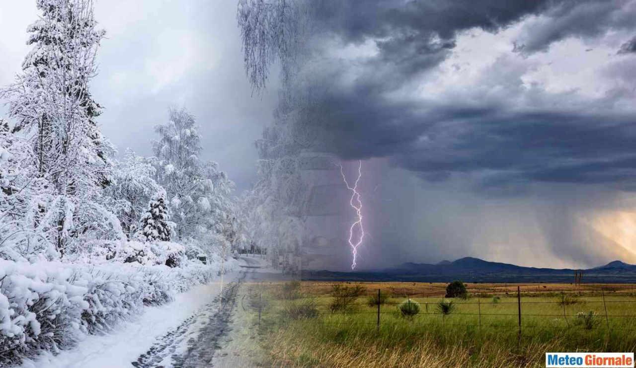 temporale neve - Meteo Weekend dal sapore invernale fra TEMPORALI e anche NEVE