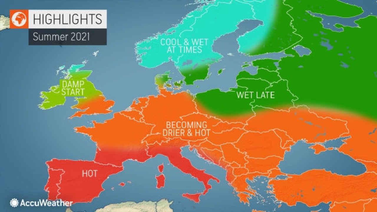 AccuWeather in Europa - CRONACA Meteo ESTATE 2021: Italia CALDO ROVENTE secondo AccuWeather
