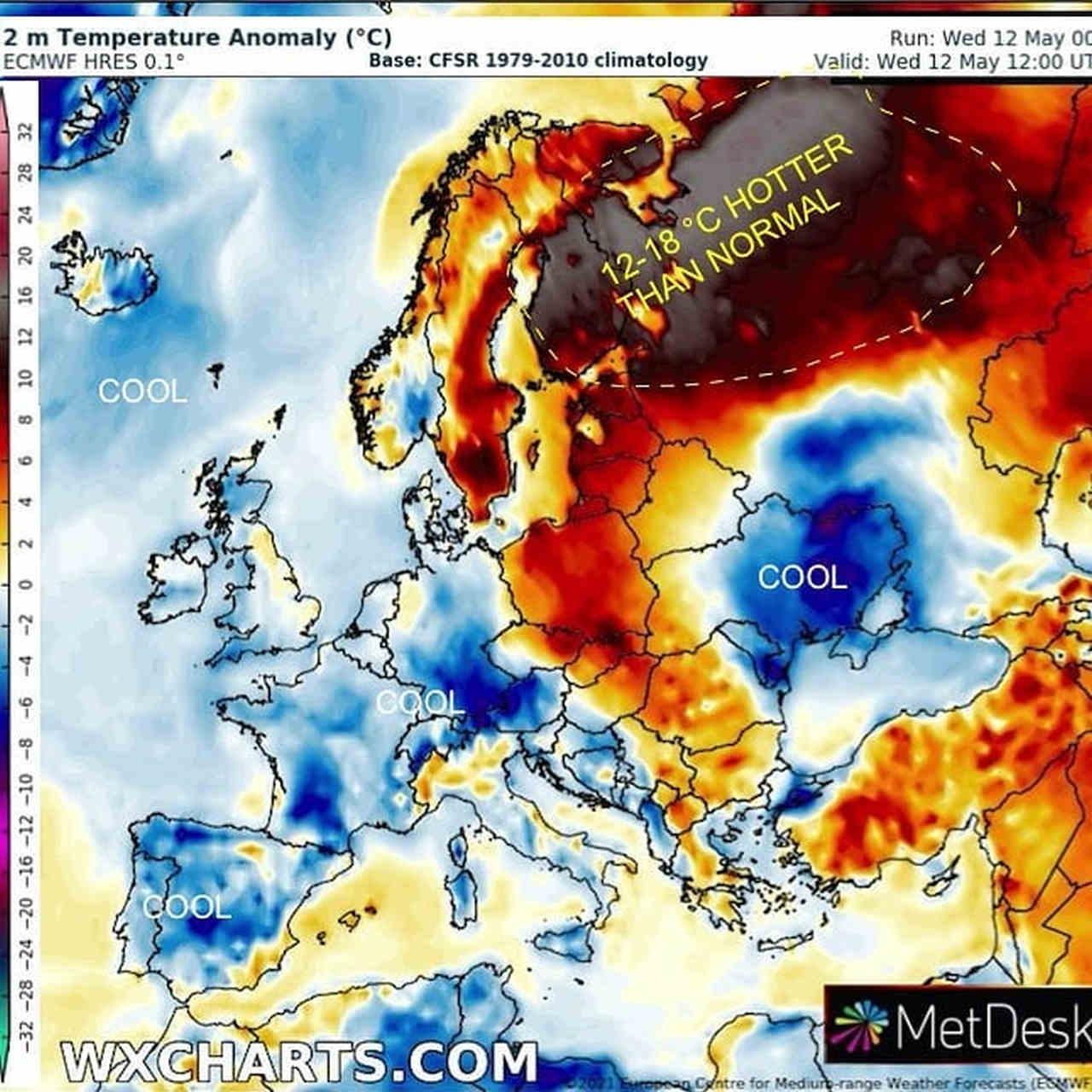 caldo anomalo nord europa - Anomalo meteo di primavera. In Finlandia è CALDO RECORD per maggio