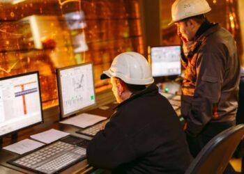 Area di controllo in una centrale nucleare.