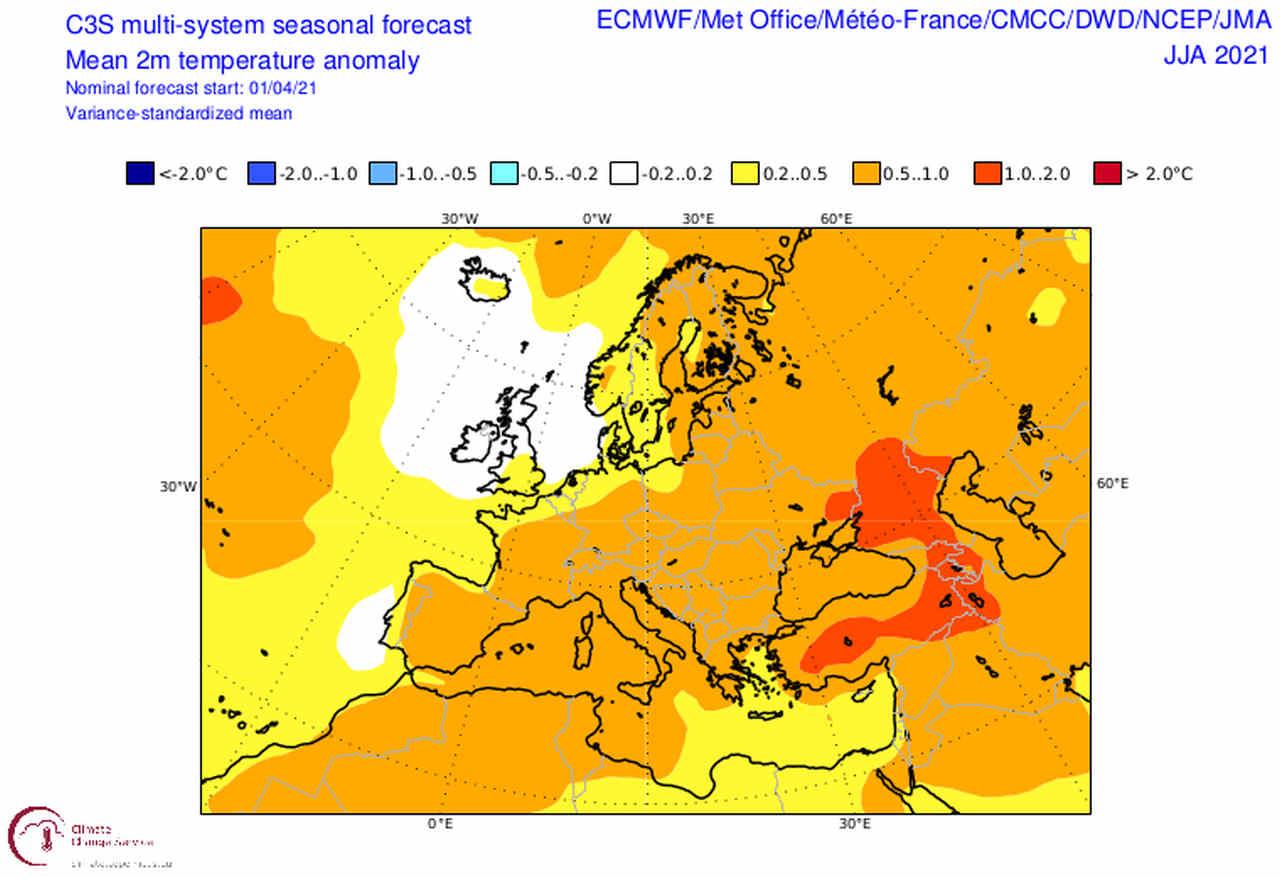 estate 2021 - CENTRO Meteo Europeo: previsione ESTATE 2021, e mappe su CALDO