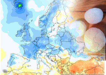 Anomalie termiche di maggio in Europa, con temperature sotto media. Caldo ma anche grandinate distruttive in Russia
