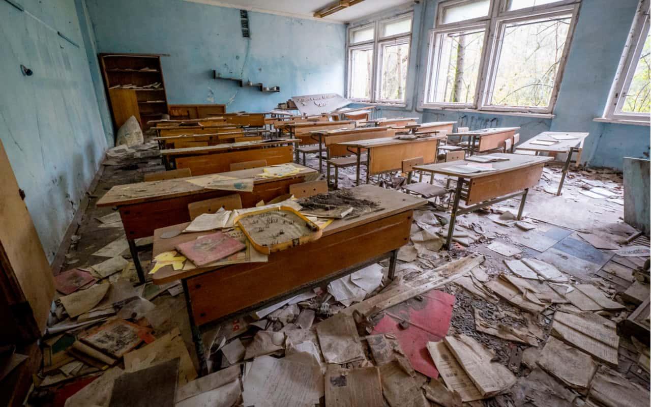 interno edificio Chernobyl - Incubo nucleare da Chernobyl, c'è una reazione nucleare. I rischi