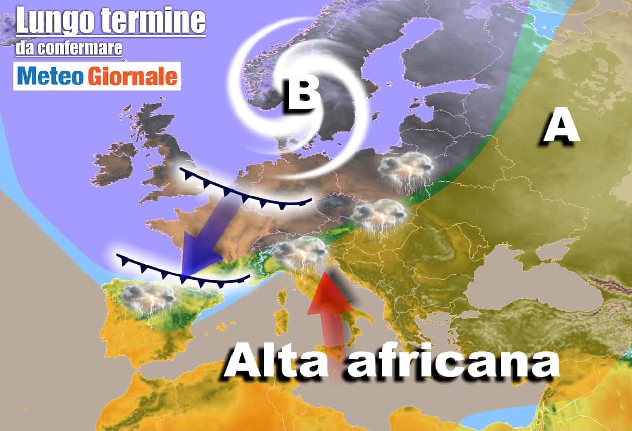 lungo termine 18 - Meteo Italia al 6 giugno: l'ESTATE proverà ad accelerare