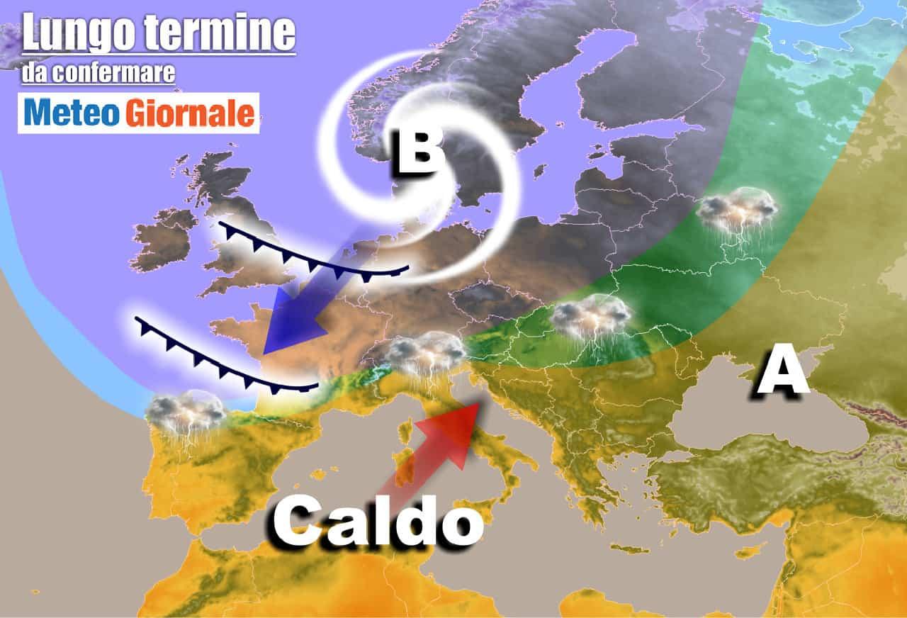 lungo termine 20 - Meteo Italia al 9 giugno: SOLE e via via più CALDO