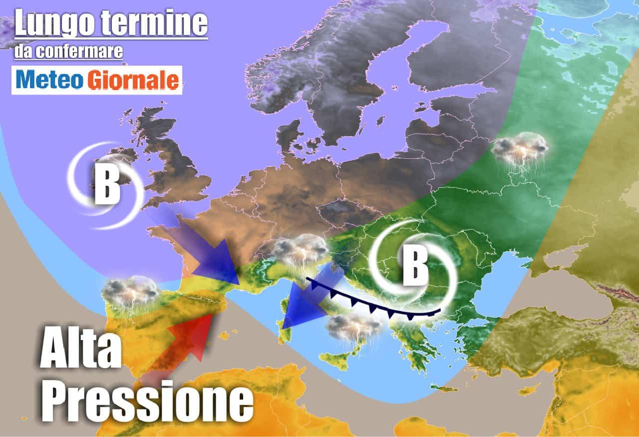 lungo termine 22 - Meteo Italia all'11 Giugno: verso il gran CALDO e TEMPORALI più intensi
