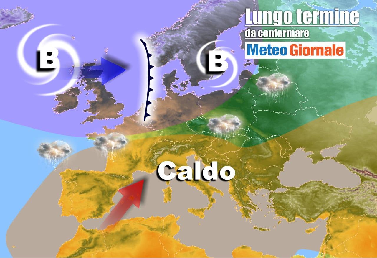 lungo termine 5 - Meteo Italia al 23 maggio, doppia perturbazione poi CALDO