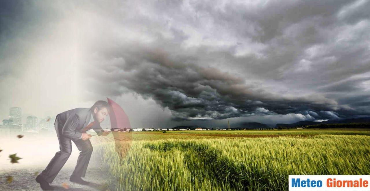 maltempo - Meteo subito MALTEMPO con forti temporali, rischio GRANDINE, NUBIFRAGI