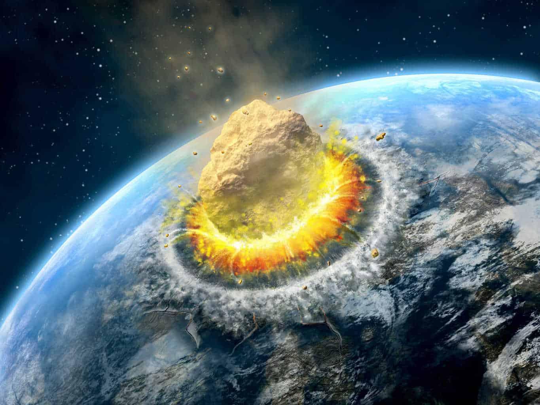 meteo 00015 - Impatto asteroide simulato verso l'Europa. Lo schianto non è stato evitato