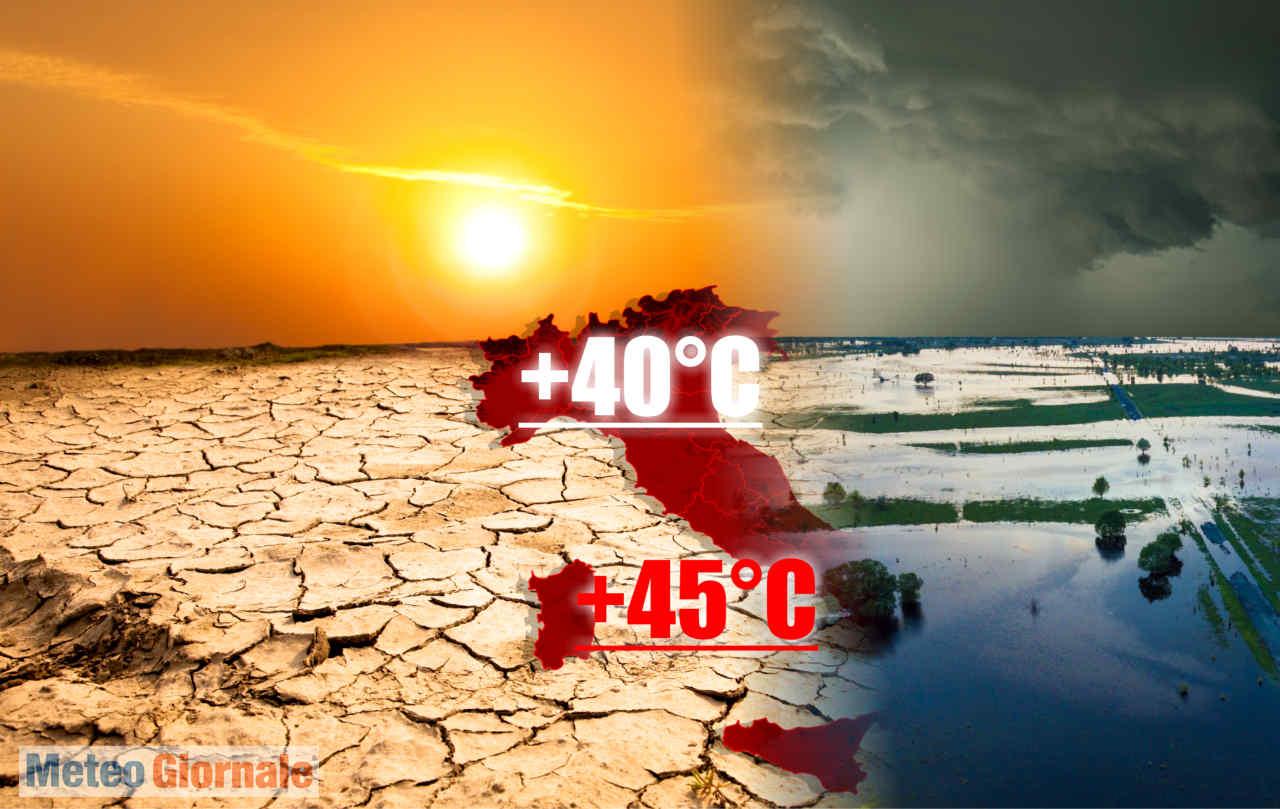 meteo estivo fuori controllo - Meteo d'ESTATE forti ANOMALIE: è estremizzazione del Clima