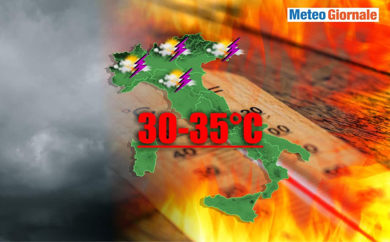 meteo estivo incerto - Verso il GRAN CALDO con anche Maltempo, meteo molto incerto