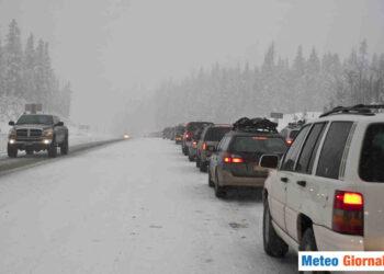 Allarme meteo per neve in Finlandia